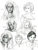 Dungeons and Dragons Chars by KMCgeijyutsuka