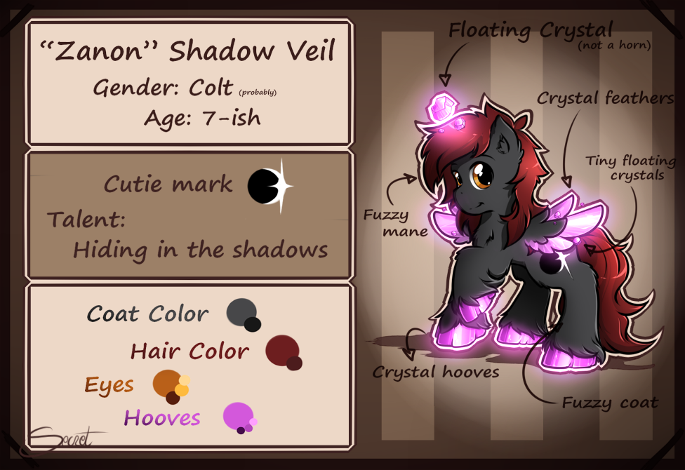 Zanon  Reference Sheet By Secret Pony! by Zanon-Shadow-Veil