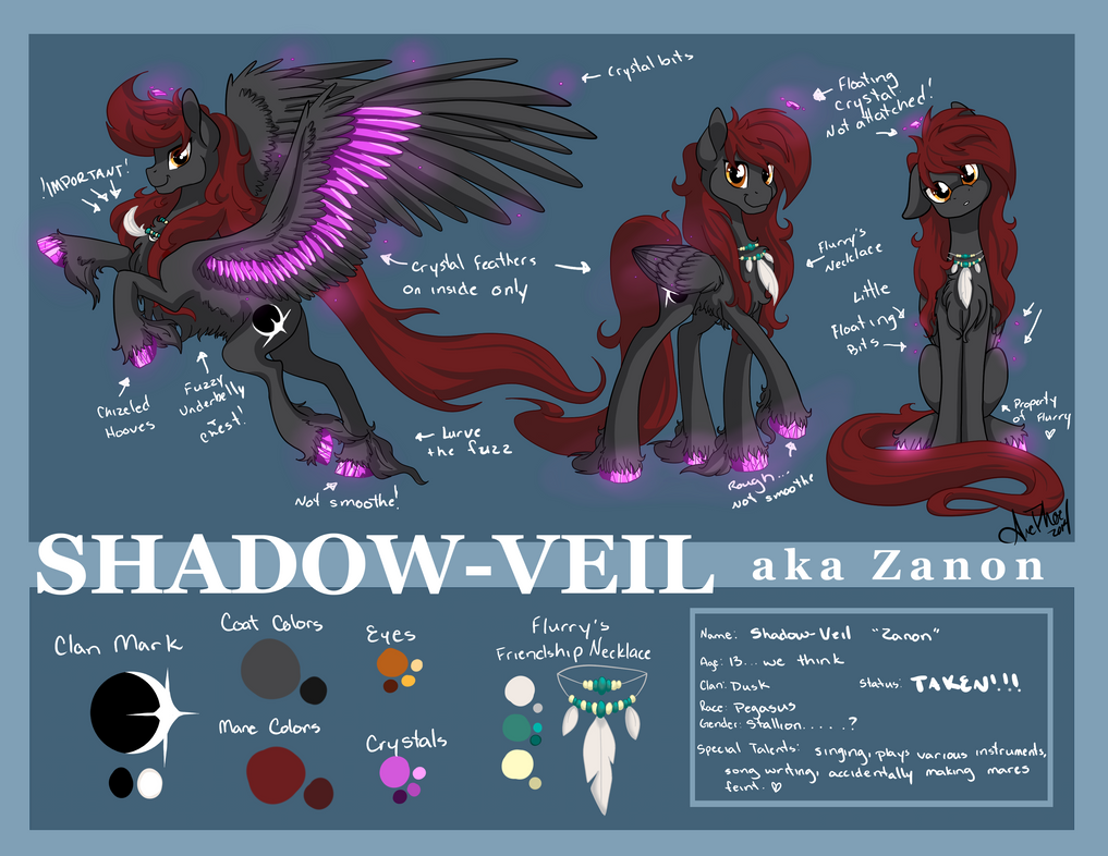 Teen Zanon Ref Sheet  By ArcadianPhoenix by Zanon-Shadow-Veil
