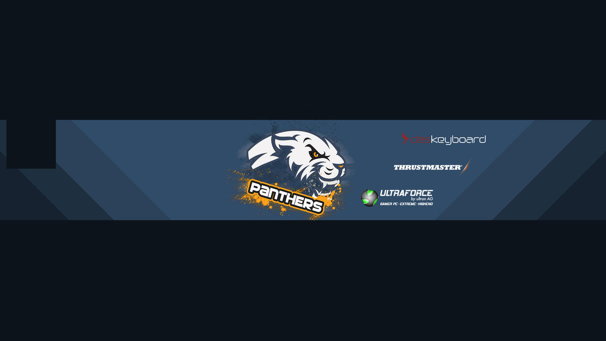 The Panthers - Simple Youtube Channel Header by FollowCandyPanda