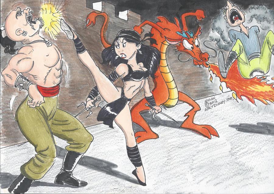Mulan and Mushu by kiff57krocker