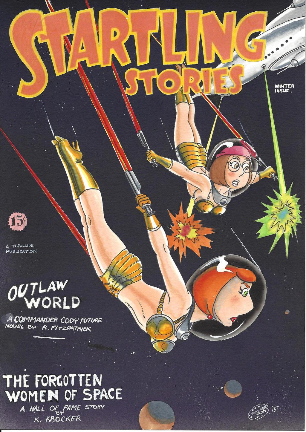 Startling Stories Magazine Cover By Kiff57krocker