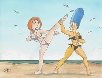 Marge vs. Lois by kiff57krocker
