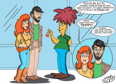 Stuart and Rhonda meet Sideshow Bob