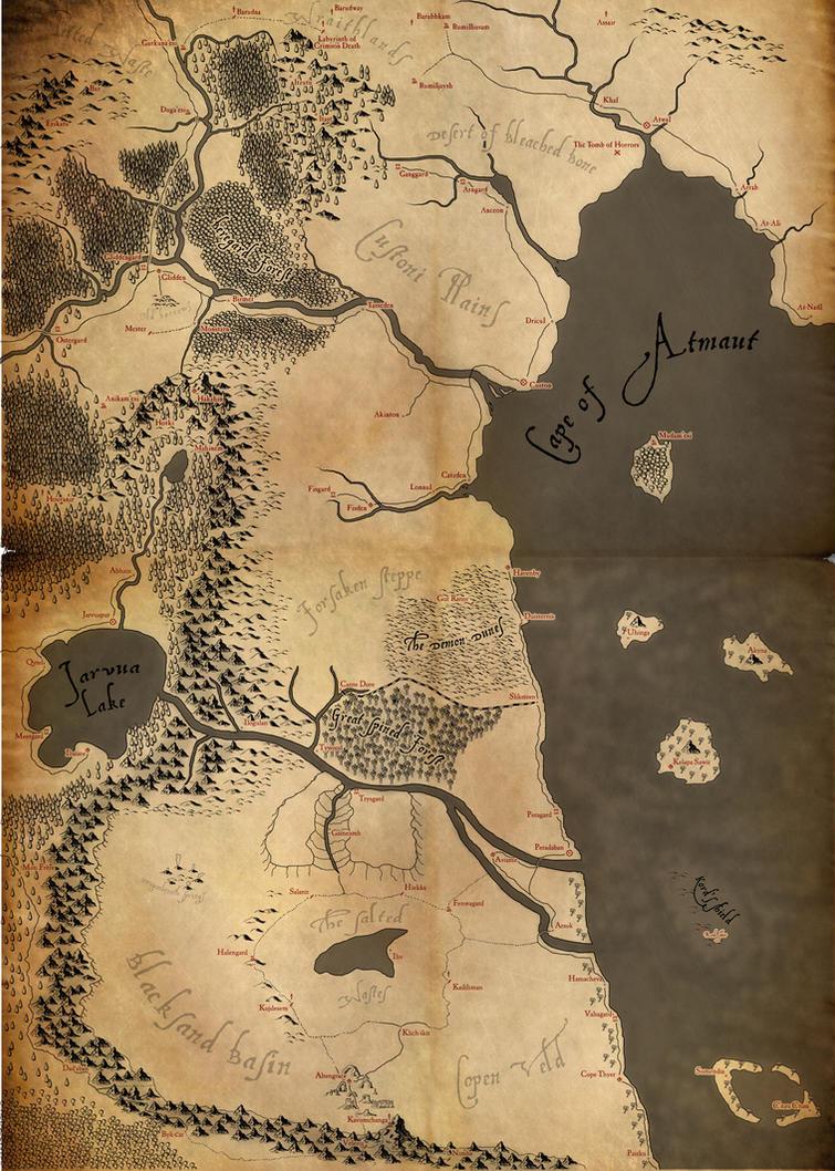 Rpg Map Blood Moon Island Etheria Rpg Schematic