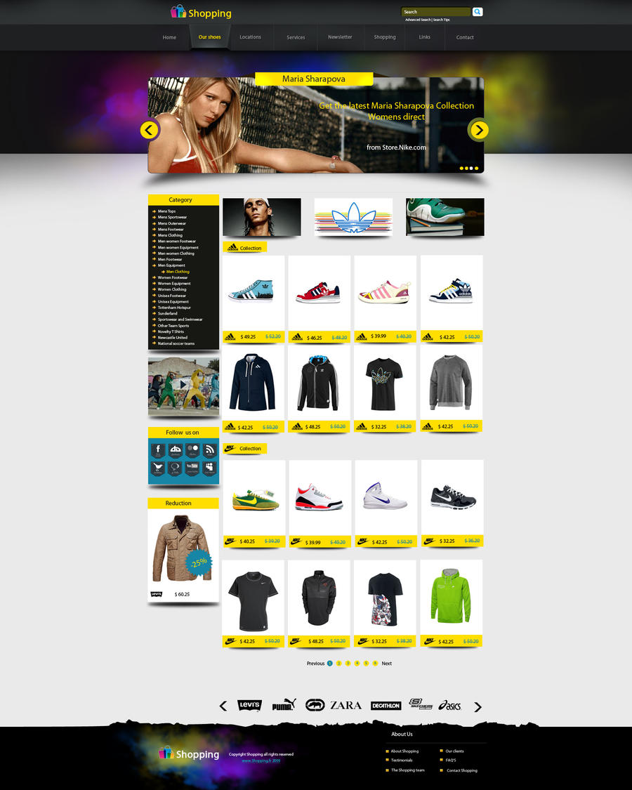 web shopping design by AbdelhakBoukili