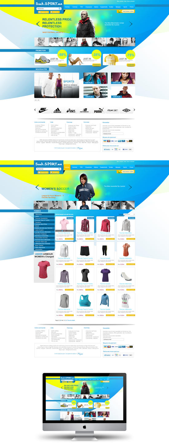 Online shopping website design by abdelhakboukili on for Website design for online shopping