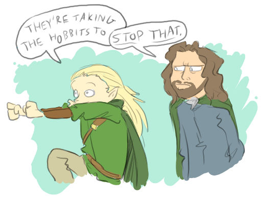 Taking The Hobbits To Isengard By Surfersquid On Deviantart