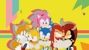 The Gang / Sonic Mania Wallpaper