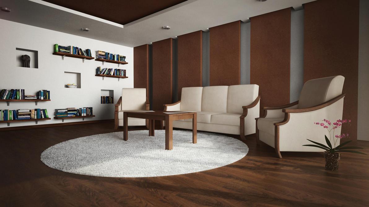 Living Room W I P By Ryanglose On Deviantart