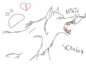 Saga as a wolf by KonanTheAngel
