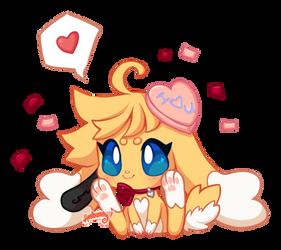 hands you a smol valentine cabbit