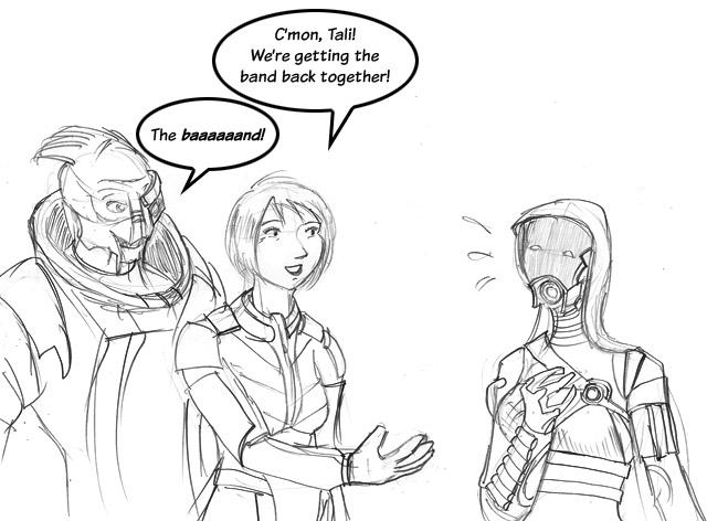 Mass Effect: The Baaaaaand by ksleet