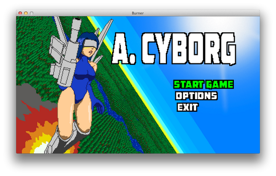 A. CYBORG Title Screen