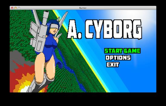 A. CYBORG Title Screen