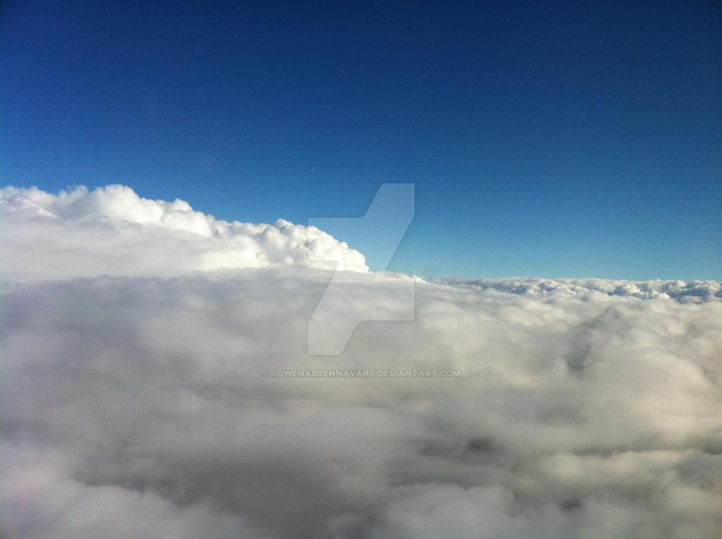 Sea of clouds by rowenabrennavart