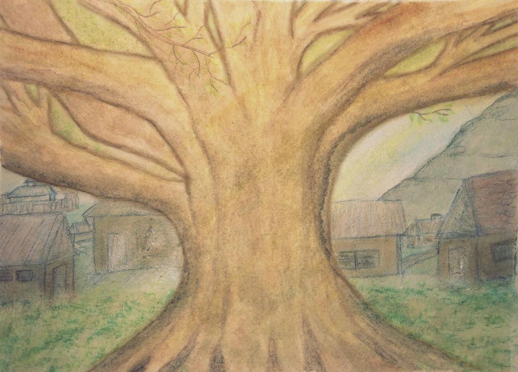 Sun Tree by rowenabrennavart