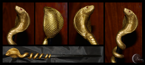 The Ophiophagus Naja wand by seirenwinter