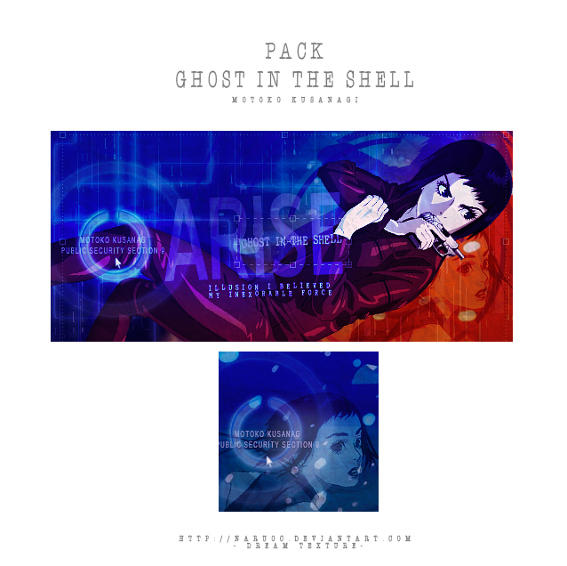 Pack ARISE - Ghost in the shell by NaruOc