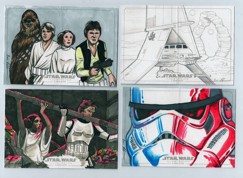 Topps Star Wars Illustrated A New Hope sketch st14