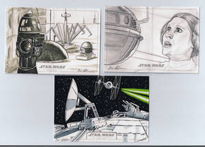 Topps Star Wars Illustrated A New Hope sketch st15