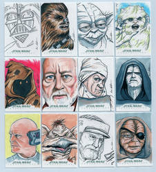 Topps Star Wars Chrome Perspectives Sketch Cards 1