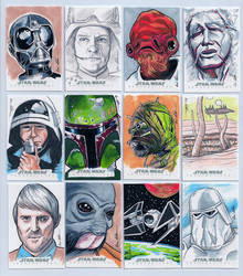 Topps Star Wars Chrome Perspectives Sketch Cards 2