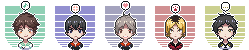 free icons: haikyuu!! setters by djoghurt