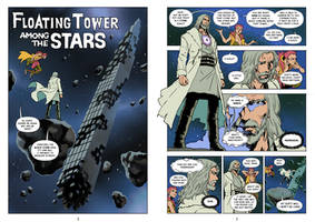 Floating Tower Among the Stars