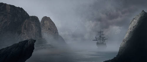 Pirate Bay Matte Painting by Gladecleaver