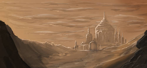 Castle in the Desert by Gladecleaver