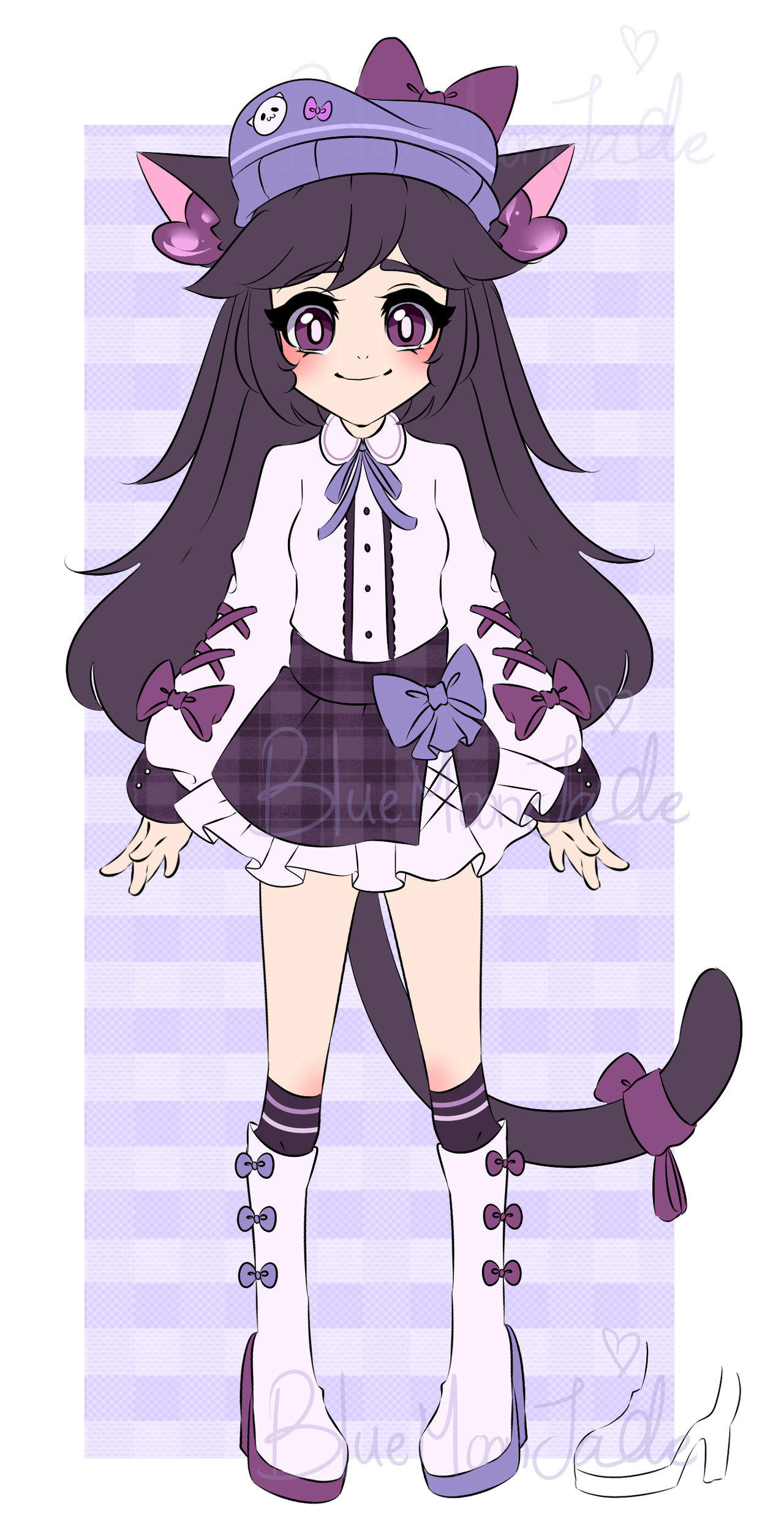 [ ADOPT OPEN ] Casual Purple Cat