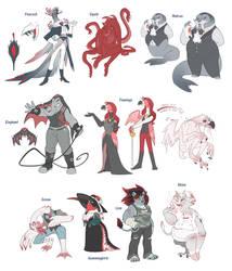FOR SALE - Anthro Vampires (one left) by blinkpen