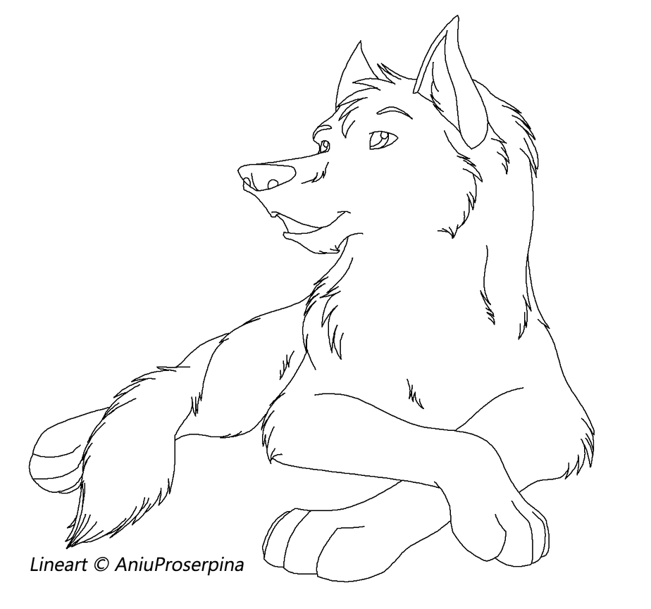 Lineart Wolf : Wolf pack lineart