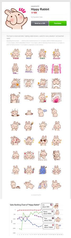 LINE Stickers 'Hippy Rabbit'