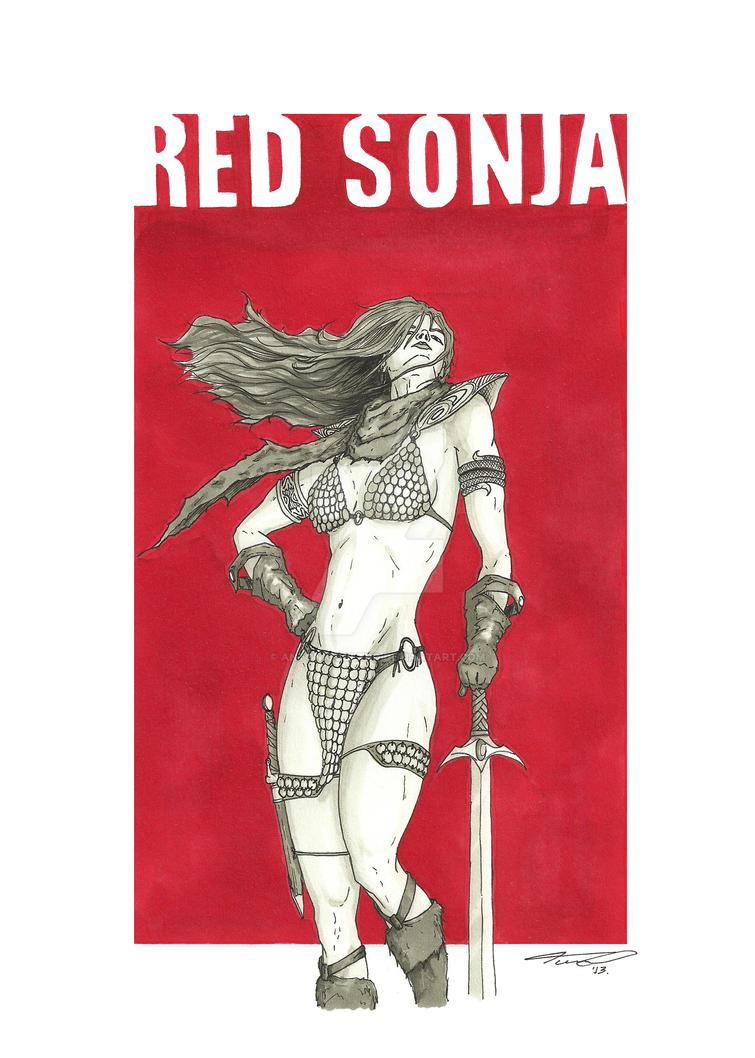 Red Sonja by antoniocoltro