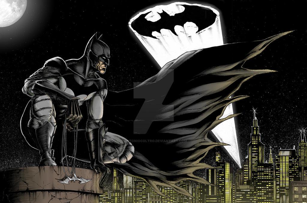 Gotham Knight - COLORS - 2017 by antoniocoltro