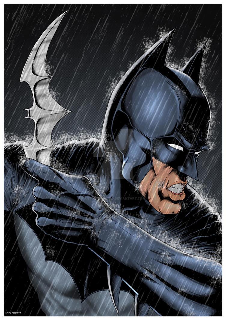 Batman Print for CCXP 2017 by antoniocoltro
