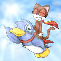 Flyin' With the Cat N Penguin by MAFIA11