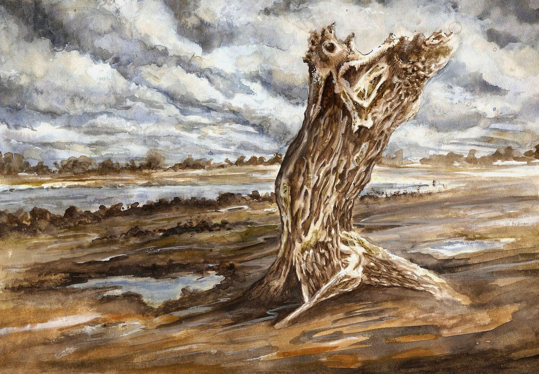 Solitary tree by Hoffnarr