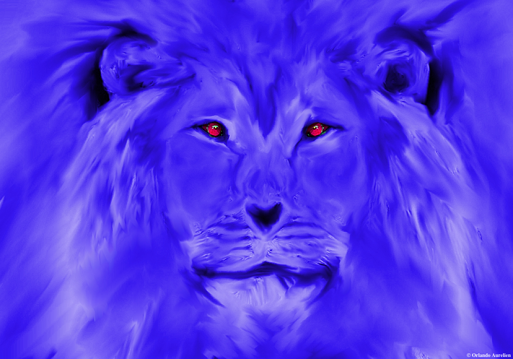 Blue Lion by aurando