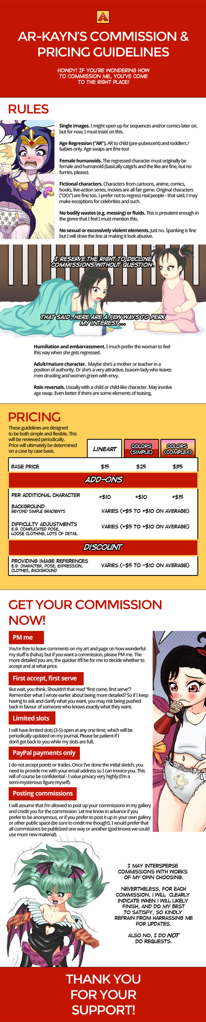 Ar-Kayn's Commission and Pricing Guidelines by Ar-Kayn