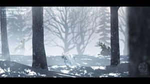 Chilling (Snowbrute Holiday Illustration)