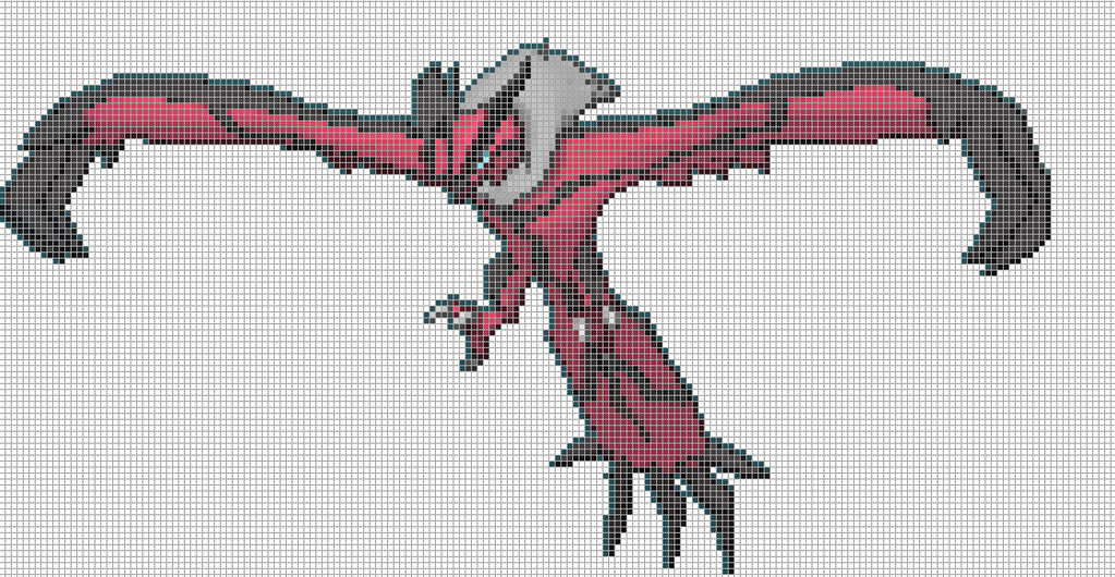 Finest Yveltal Pixel Art Grid By With