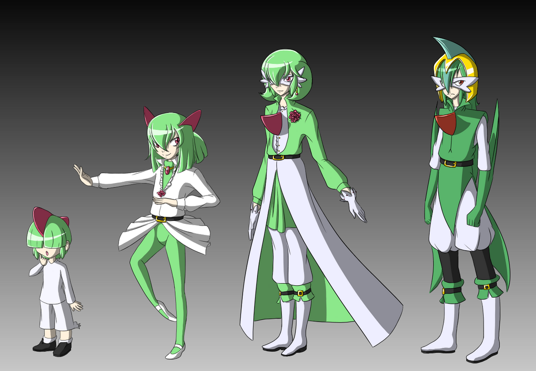 Gallade and gardevoir breeding ralts family by rinkunokoisuru