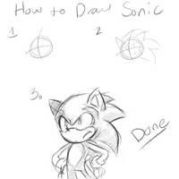 How to Draw Sonic by rinkunokoisuru