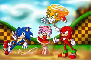 Sonic And Friends by rinkunokoisuru