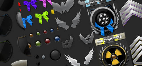 Rank and Badges Creation Kit by Nulumia by Nulumia
