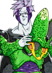 Perfect Cell no helmet by obsolete00