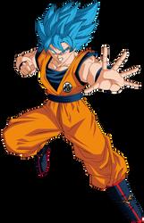 Super Saiyan Blue Goku w/Broly Movie Colors by obsolete00